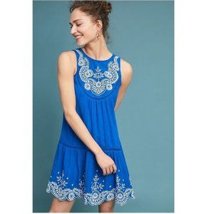 Anthropologie Wadden Embroidered Dress